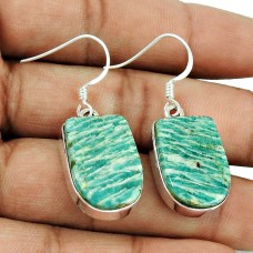 Awesome Style Of!! 925 Sterling Silver Amazonite Earrings Wholesale