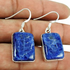 Big Delicate!! 925 Sterling Silver Sodalite Earrings Fabricant
