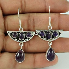 Big Royalty!! 925 Sterling Silver Amethyst Earrings Fabricante