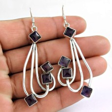 Hot !! 925 Silver Amethyst Earrings