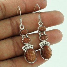 Sterling Silver Fashion Jewellery Fashion Sun Stone Gemstone Earrings