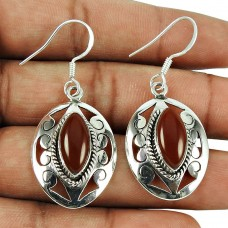 Charming Carnelian Gemstone Earrings 925 Sterling Silver Jewellery