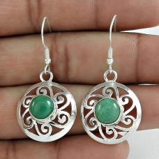 Fashion Turquoise Gemstone Earrings 925 Sterling Silver Vintage Jewellery