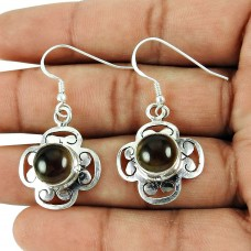 Beautiful Smoky Quartz Gemstone Earrings Sterling Silver Fashion Jewellery