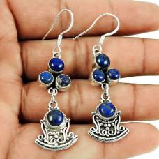 Spell!! 925 Sterling Silver Lapis Earrings Mayorista