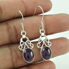 Big Love's Victory !! 925 Sterling Silver Amethyst Earrings Jewelry De gros