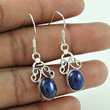Gorgeous Design !! 925 Sterling Silver Lapis Earrings Grossiste