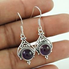 Favorite!! 925 Sterling Silver Amethyst Earrings Fabricant