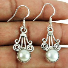 Party Wear Pearl Earrings 925 Sterling Silver Jewellery