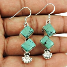 Beautiful Turquoise Gemstone Earrings 925 Silver Jewellery