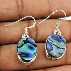 Daily Wear Shell Gemstone Earrings 925 Silver Jewellery