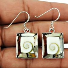 Charming Shiva Eye Gemstone Earrings 925 Sterling Silver Jewellery