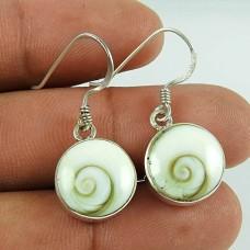 925 Sterling Silver Indian Jewelry Traditional Shiva Eye Gemstone Earrings