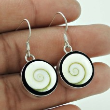 Party Wear Shiva Eye Gemstone Earrings 925 Sterling Silver Indian Jewellery