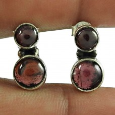 Beautiful Garnet Gemstone 925 Sterling Silver Stud Earrings Jewellery