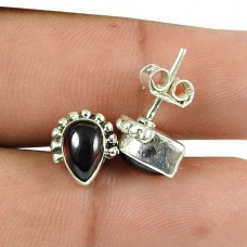 Seemly Garnet Gemstone Sterling Silver Stud Earrings 925 Silver Jewellery