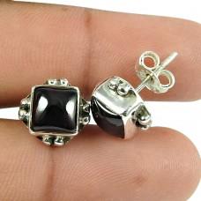 Well-Favoured Garnet Gemstone Sterling Silver Stud Earrings 925 Sterling Silver Jewellery