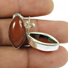 Stunning 925 Sterling Silver Carnelian Gemstone Stud Earring Jewellery Mayorista
