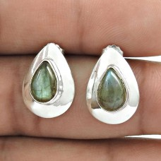 Sterling Silver Jewelry Beautiful Labradorite Gemstone Earrings