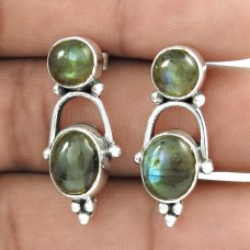 925 Sterling Silver Jewelry Charming Labradorite Gemstone Earrings