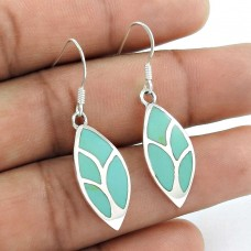 Ornate!! 925 Sterling Silver Inlay Earrings Supplier