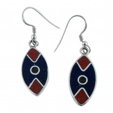 Plushy!! 925 Sterling Silver Inlay Earrings Wholesale Price