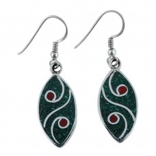 Possessing!! 925 Sterling Silver Inlay Earrings Wholesaling