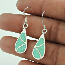 925 Sterling Silver Antique Jewelry High Polish Inlay Gemstone Earrings