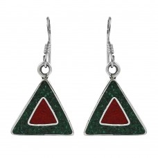 Rattling!! 925 Sterling Silver Inlay Earrings Wholesale