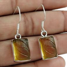 Sterling Silver Fashion Jewellery Rare Citrine Quartz Gemstone Earrings
