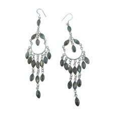 High Work Quality 925 Sterling Silver Labradorite Earrings Fabricante
