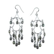 Large Stunning 925 Sterling Silver Labradorite Earrings Fournisseur