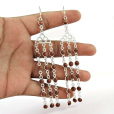 Faceted !! Brown Sunstone Gemstone Sterling Silver Earrings Jewelry Wholesaling