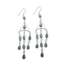 Stunning 925 Sterling Silver Labradorite Earrings De gros