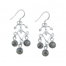 Exclusive 925 Sterling Silver Labradorite Earrings Grossiste