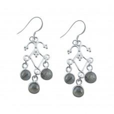 Exclusive 925 Sterling Silver Labradorite Earrings Grossiste