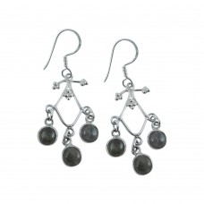 Classy Design 925 Sterling Silver Labradorite Earrings Fournisseur