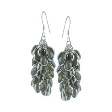 Large 925 Sterling Silver Labradorite Earrings Großhändler