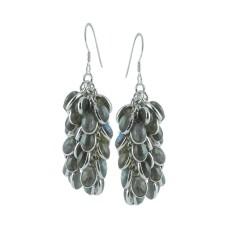 Large 925 Sterling Silver Labradorite Earrings Großhändler