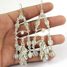 925 sterling silver indian jewelry Fashion Rainbow Moonstone Gemstone Earrings Hersteller