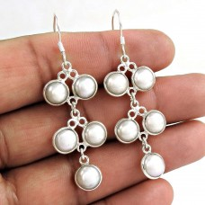 925 sterling silver fashion jewelry Fashion Pearl Gemstone Earrings Wholesale Price