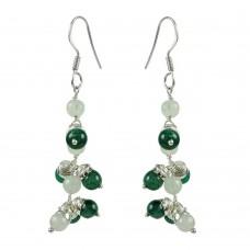 Classic Green Aventurine, Rose Quartz Gemstone Sterling Silver Earrings 925 Sterling Silver Jewellery