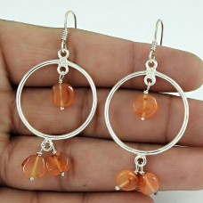 Amazing !! Carnelian Gemstone Sterling Silver Earrings Jewelry Hersteller