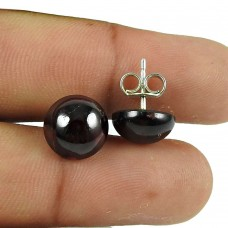 Pleasing Garnet Gemstone Sterling Silver Stud Earrings 925 Sterling Silver Jewellery