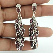 Classic Garnet Gemstone Sterling Silver Earrings 925 Sterling Silver Jewellery