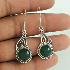 Fetching !! Green Onyx Gemstone Sterling Silver Earrings Jewelry Fournisseur