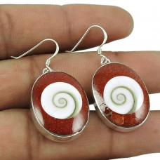Personable 925 Sterling Silver Shiva Eye Earrings