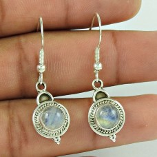 Stunning 925 Sterling Silver Rainbow Moonstone Earring Jewellery
