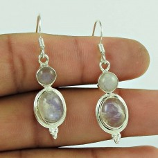 Scrumptious 925 Sterling Silver Rainbow Moonstone Earring Jewellery