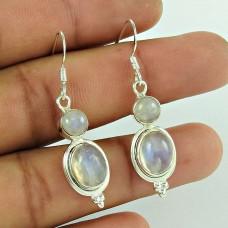 Handy 925 Sterling Silver Rainbow Moonstone Earring Ethnic Jewellery